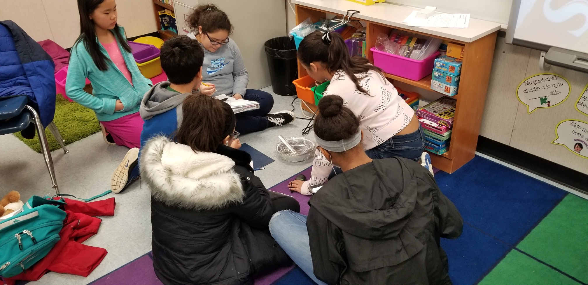 students conducting science experiment